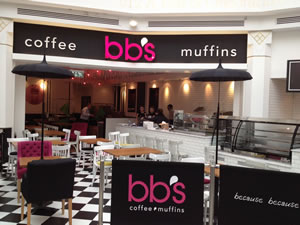 Bb 39 s create a muffin moment in putney for Bb shopping it