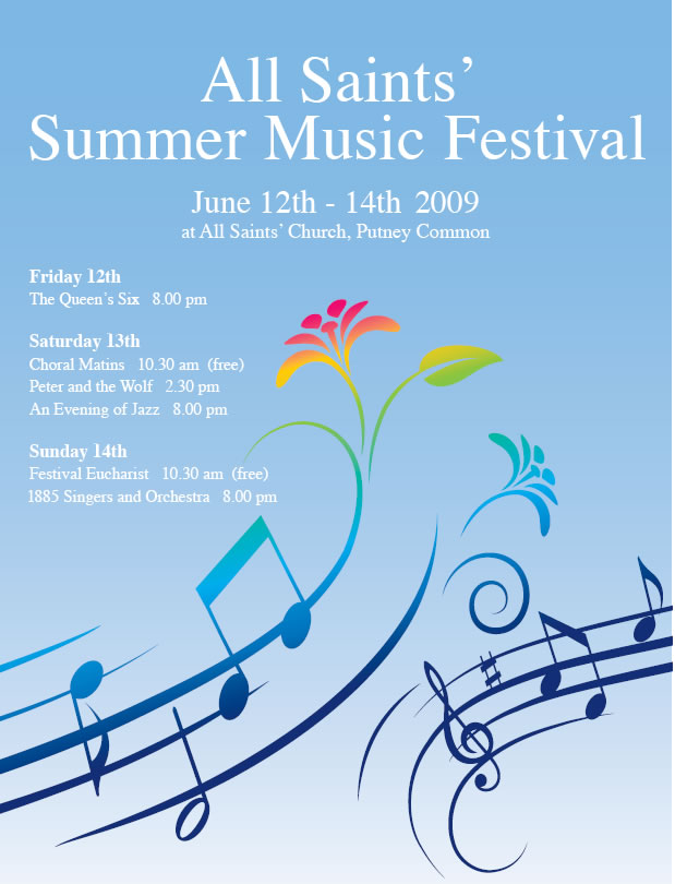 All Saints Music Festival Programme  Putney SW15