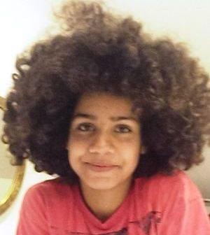 Alone! Curly light skinned girl not